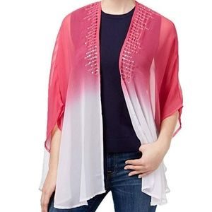 Steve Madden Womens Sequined Ombre Kimono One Size